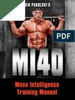 Main Training Manual For MI40