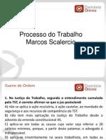 RQ e Simulados -Processo Do Trabalho - Aula 02 - Prof Marcos