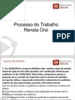 RQ e Simulados -Processo Do Trabalho - Aula 03 - Profa Renata