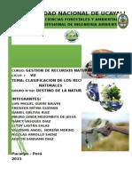 Grupo 02 Clasificacion de Recursos Naturales