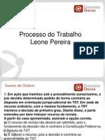 RQ e Simulados -Processo Do Trabalho - Aula 06 - Prof Leone