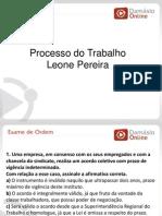 RQ e Simulados -Processo Do Trabalho - Aula 08 - Prof Leone