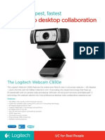 Logitech Webcam c930e Data Sheet