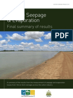 Storage Seepage Evaporation Results Summary Final