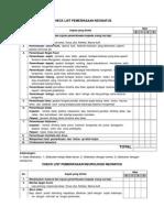 CHECK LIST Revisi Mhsw.2015