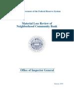 Neighborhood Bank Final Report 1-28-10 Signed