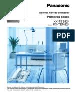 Primeros Pasos Centralita Telefonica Analogica Panasonic KX-TES824