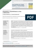 10.0Espondilolisis y espondilolistesis en niños y adolescentes