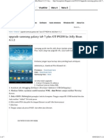 Upgrade Samsung Galaxy Tab 7 Plus GT-P6200 Ke Jelly Bean 4.1.2