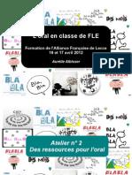 Oral Classe Blog 2