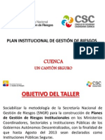 PresentaciónPlanesInstitucionalesGRenInstitucionesPublicasoPrivadas