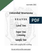 EXAVER 2 Paper 2 Sample Exam erg oaeorg aog auoagu añegu eoñ añogerefo nfjenjlaaergeg aerg et b ae