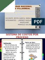 Sistema de Costos Por Proceso y Ordenes