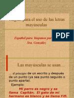 Reglas Para El Uso de Las Letras May_sculas I