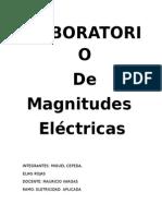 imfome de magnitudes eletricas