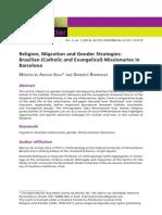Religion, Migrxxxxxxxxxation and Gender Strategies