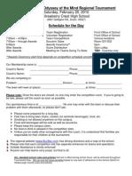 2009-10 Buc Bay Tournament Schedule