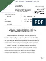 Digital Envoy, Inc. v. Google, Inc. - Document No. 12
