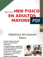 Examen Fisico de Adultos Mayores