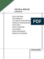 Harman Kardon AVR130 Setup Codes