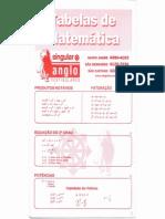 tabela matemática - anglo