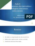 Aula de Sociologia Econômica e Redes sociais