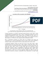 Dois séculos de crescimento da economia e da população no Brasil