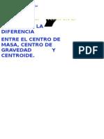 Centro Gravedad Masa Centroide