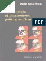 Rosenfield, Denis - Introduccion al pensamiento politico de Hegel.pdf