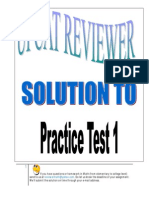 Solution UPCAT Practice Test 1