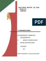 VARIANZA DE DISPERSIÓN Y CALCULO DEL BENEFICIO