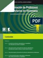 Formacion de Profesores Universitarios en Venezuela. Libro Digital