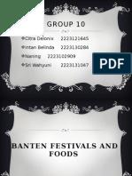 Eft Foods and Festivals