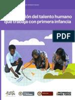 cualificacion talento humano primera infancia