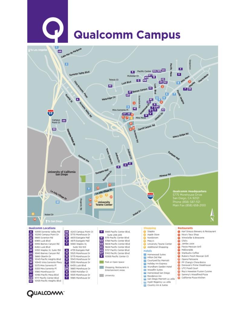 Qualcomm San Diego Map