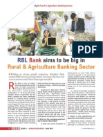 Agriculture, Rural Banking and Priority Sector Lending in India- New opportunities and Horizons