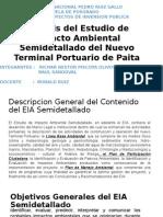 Analisis Del Estudio de Impacto Ambiental Semidetallado Del Nuevo Terminal Portuario de Paita