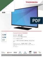 Thomson 32HU5253 Product Sheet
