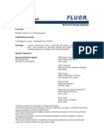 FLUOR Professisadonal Experience Format