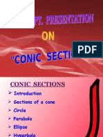 Maths Ppt on Conic Section