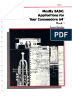 Mostly BASIC Applications for Your Commodore 64 Book 1