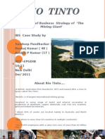 Analysis of Business Strategy of Rio  Tinto