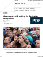 Gay Couples Still Waiting for Australian Recognition - BBC News