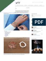 Manual para pulsera, código morse