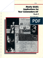 Mostly BASIC Applications for Your Commodore 64 Book 2