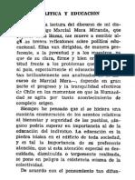 Marcial Mora Miranda En busca de una ruta política y educación.