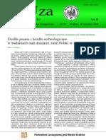 Kolendo Źródła Pisane i Źródła Archeologiczne w Badaniach Nad Dziejami Ziem Polskich w Starozytności 2010