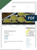 Chee Cheong Fun Recipe _ Rosamundwo's Recipe