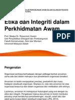 Etika Dan Integriti Dalam Perkhidmatan Awam Pdf