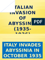 The Italian invasion of Abyssinia